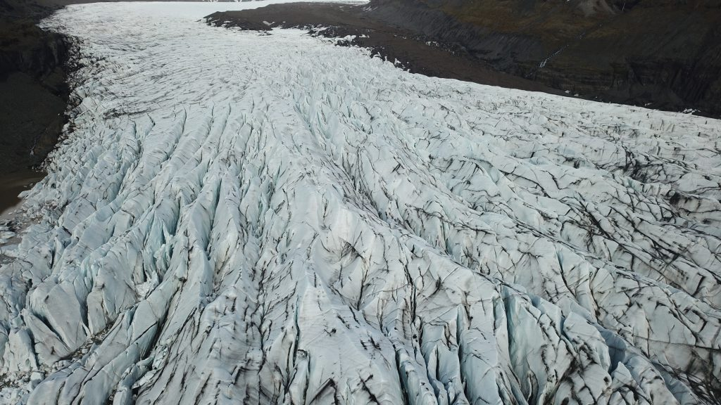Drone shot IJsland