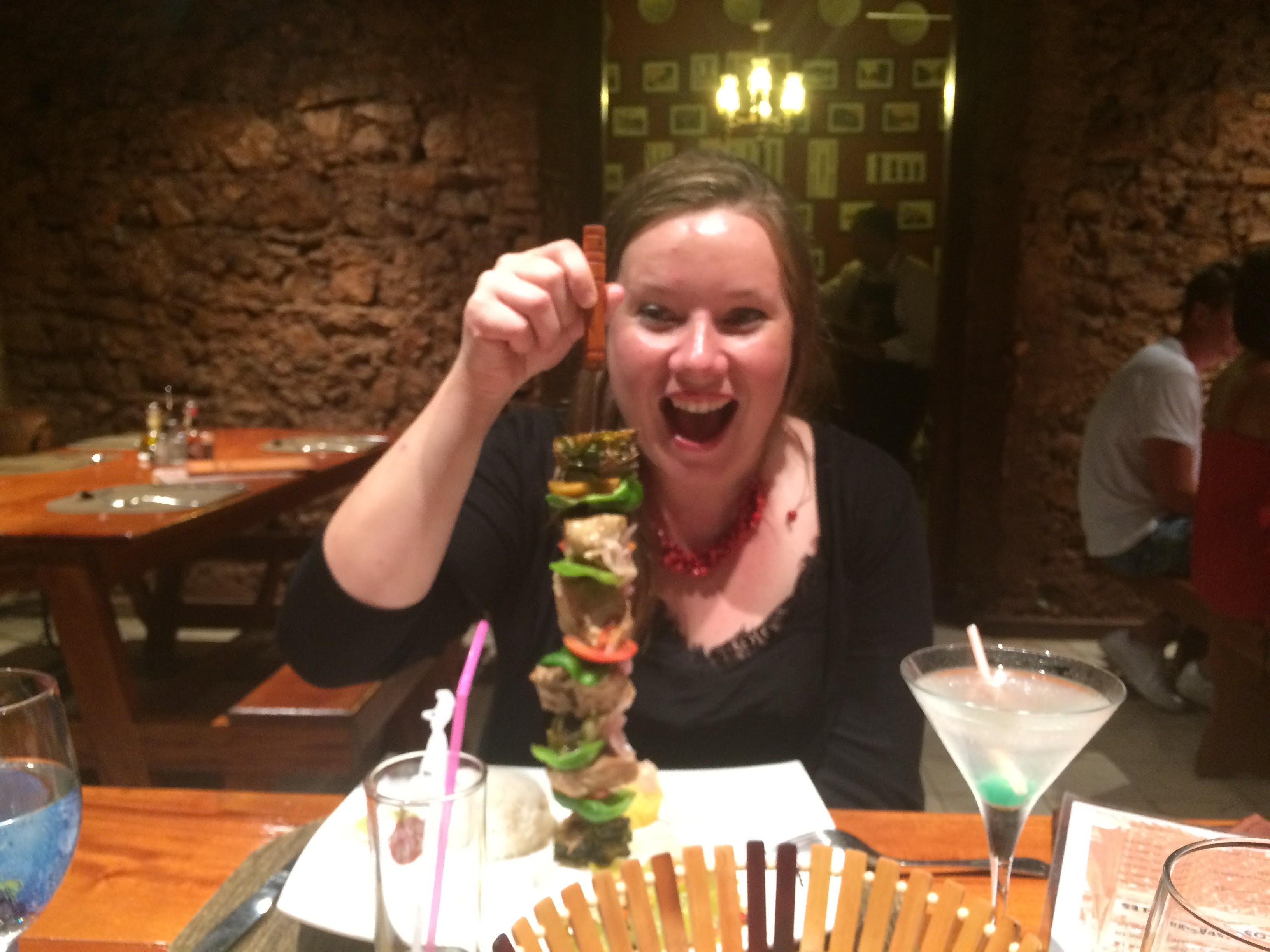 Charlotte in Cubita Restaurant Cuba