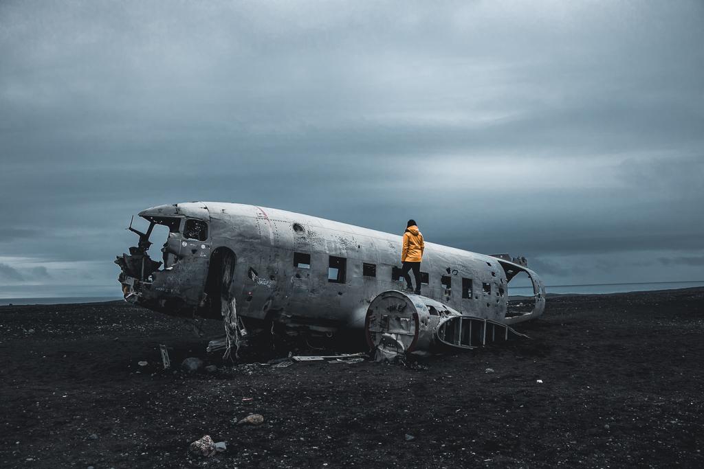 IJsland, vliegtuigwrak