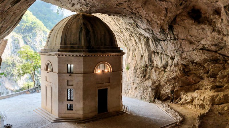 Temple of Valadier Le Marche Italy