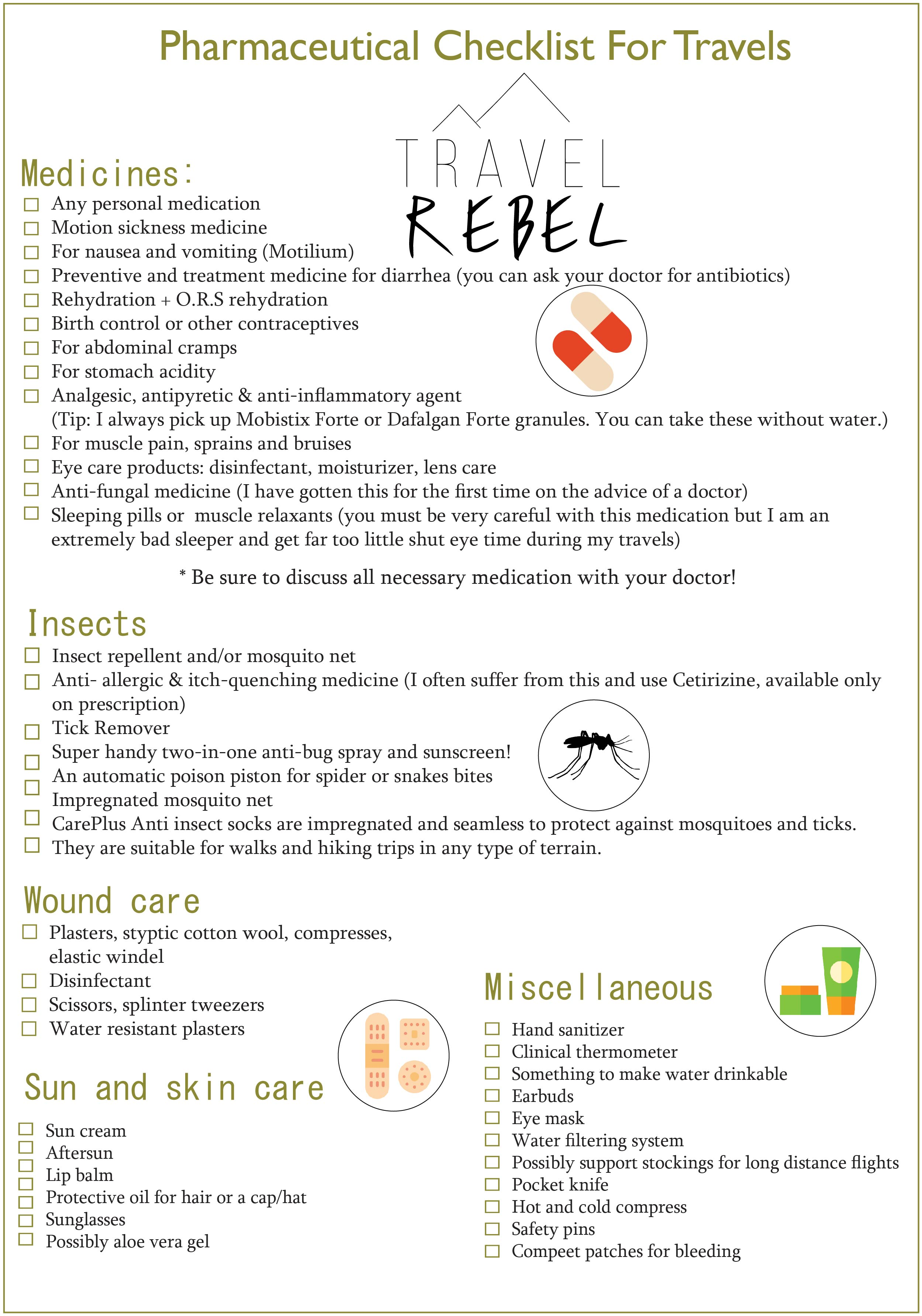 Medical Travel Checklist