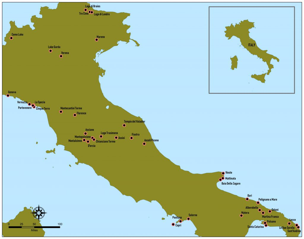 Italië, kaart