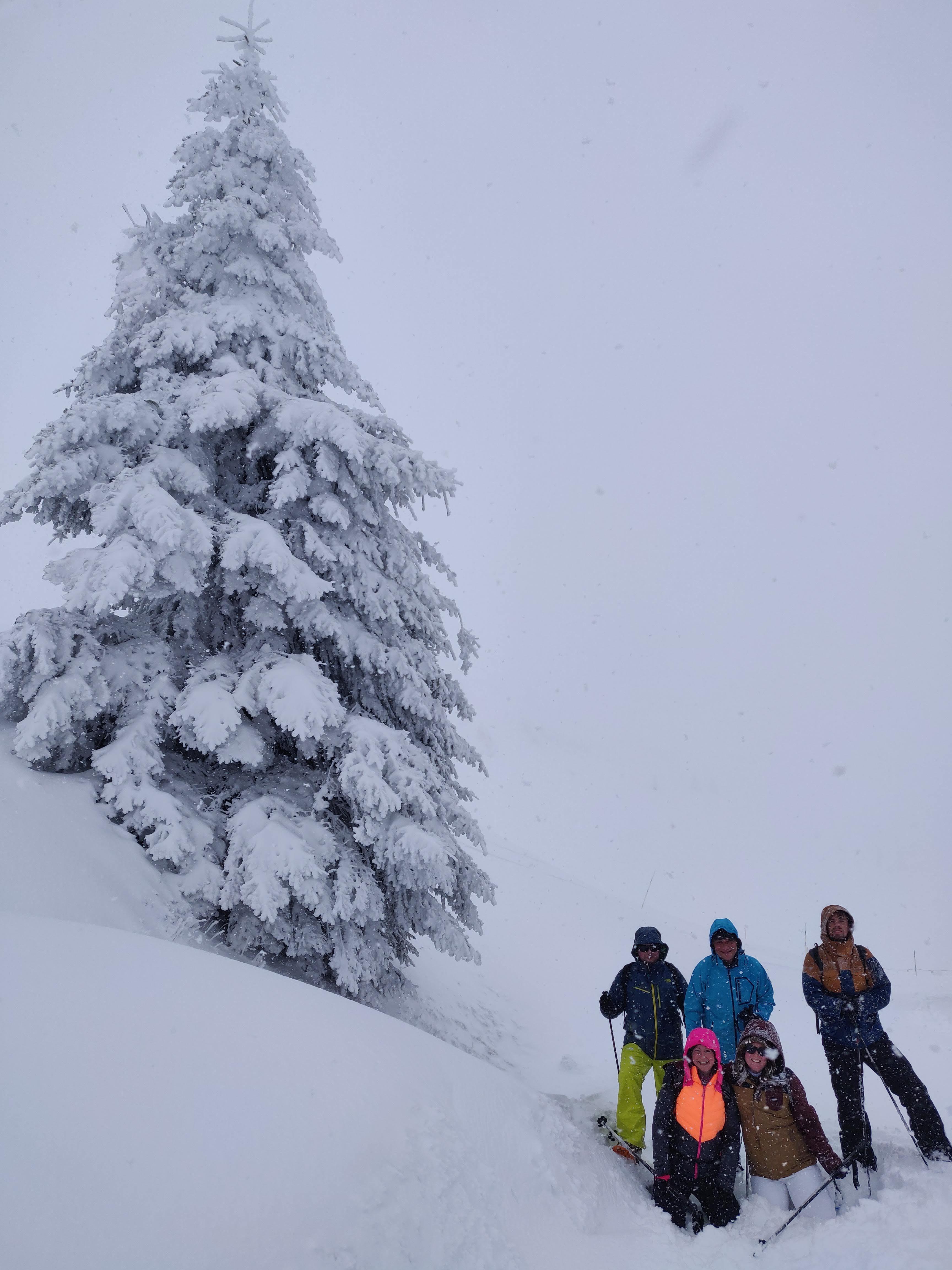 Snowshoe hiking Kitzbühel Austria
