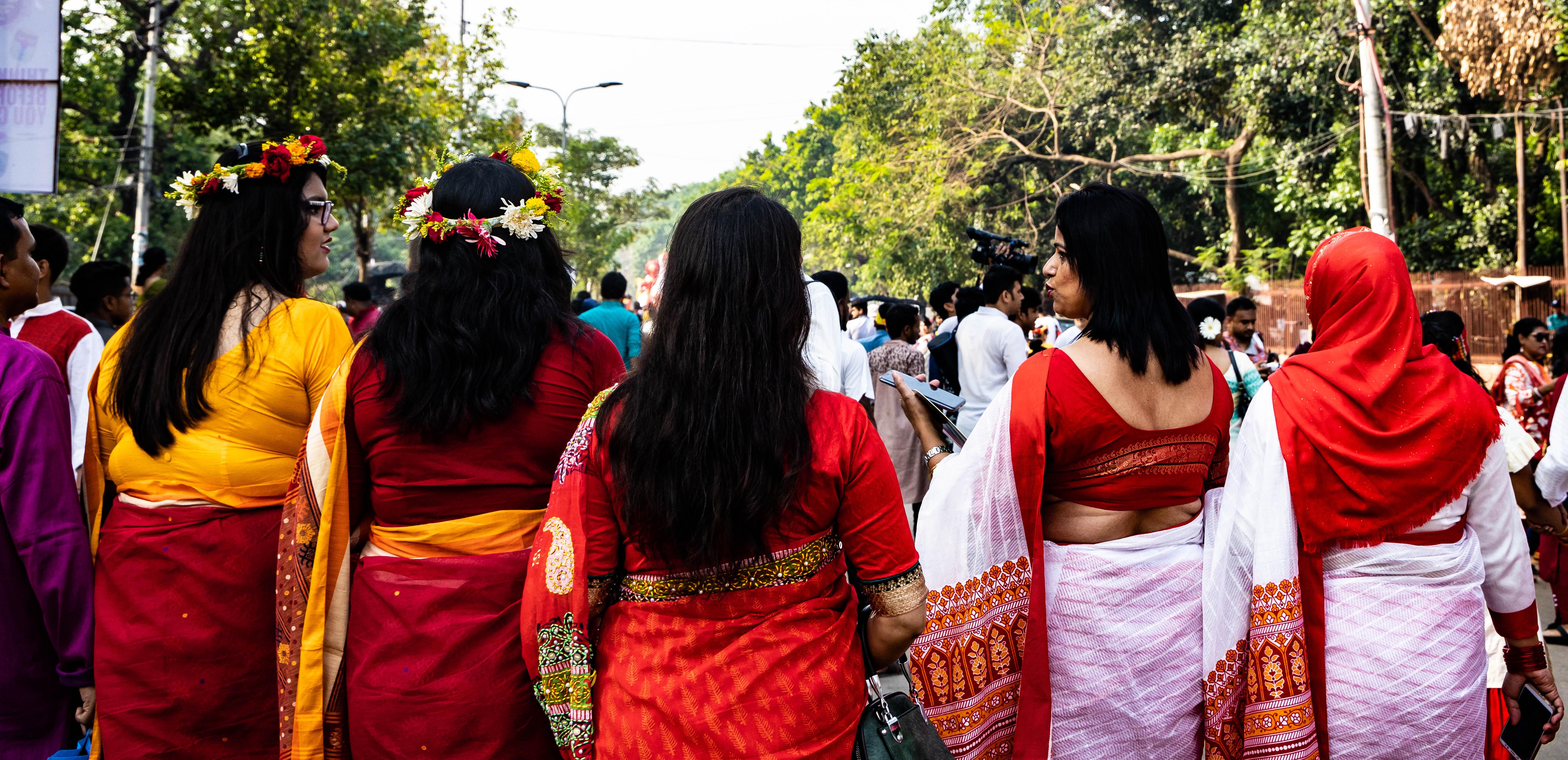 Local ladies in Dhaka Bangladesh