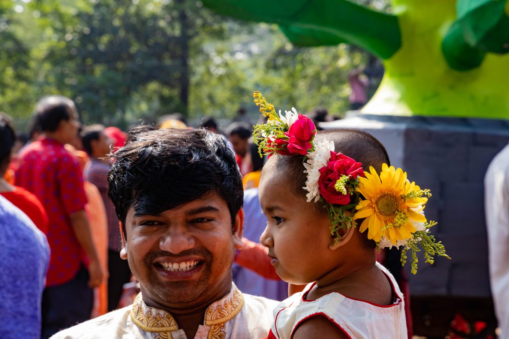 Father in Dhaka Bangladesh - Bengali New Year