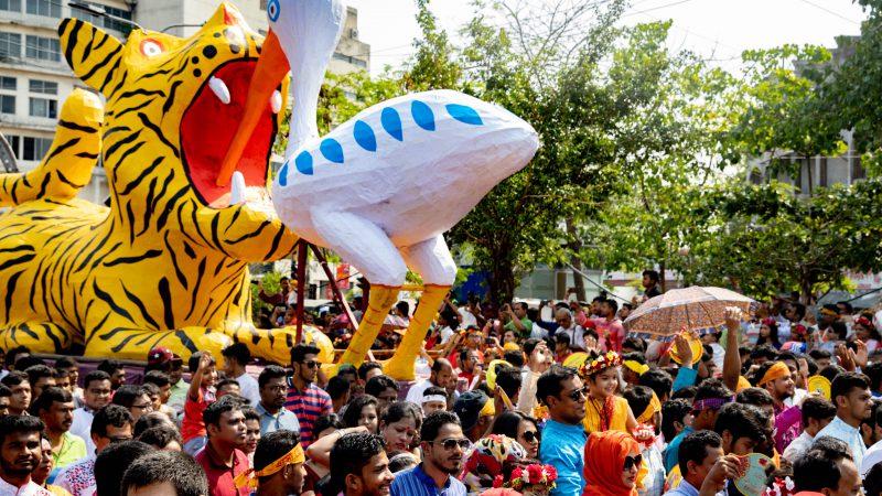 Mongol Shobha Jatra procession, Bangladesh, Dhaka, Bengali New Year