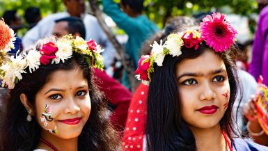 Bengali New Year Shuvo Noboborsho - Flower Crowns Girls