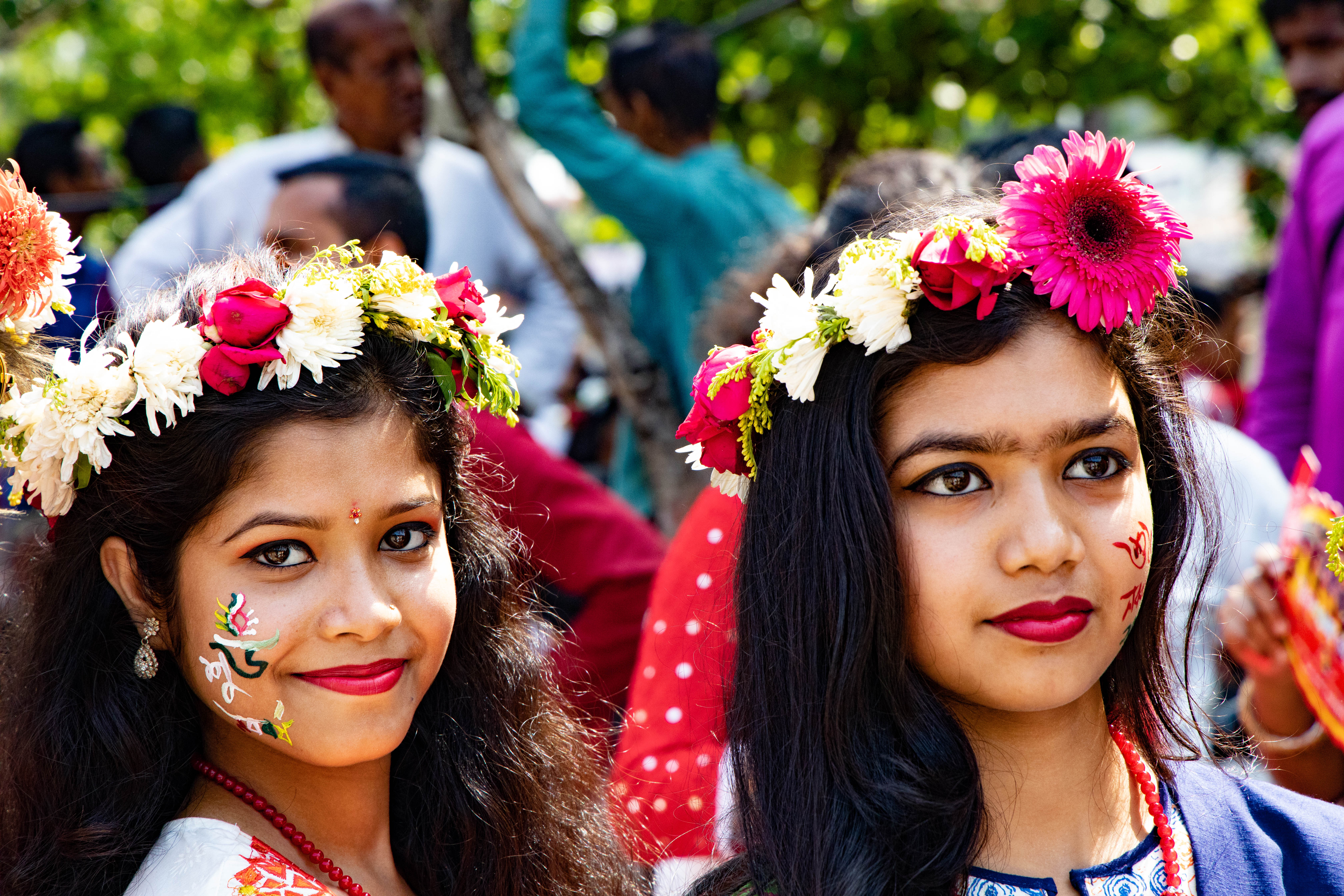 Bengali New Year Shuvo Noboborsho - Flower Crowns Girls