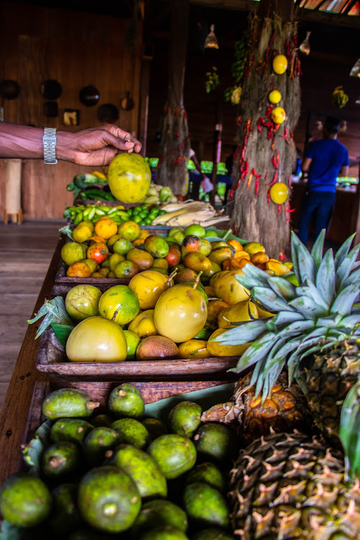 Fresh fruit Sao Tome - destination perfect for vegans