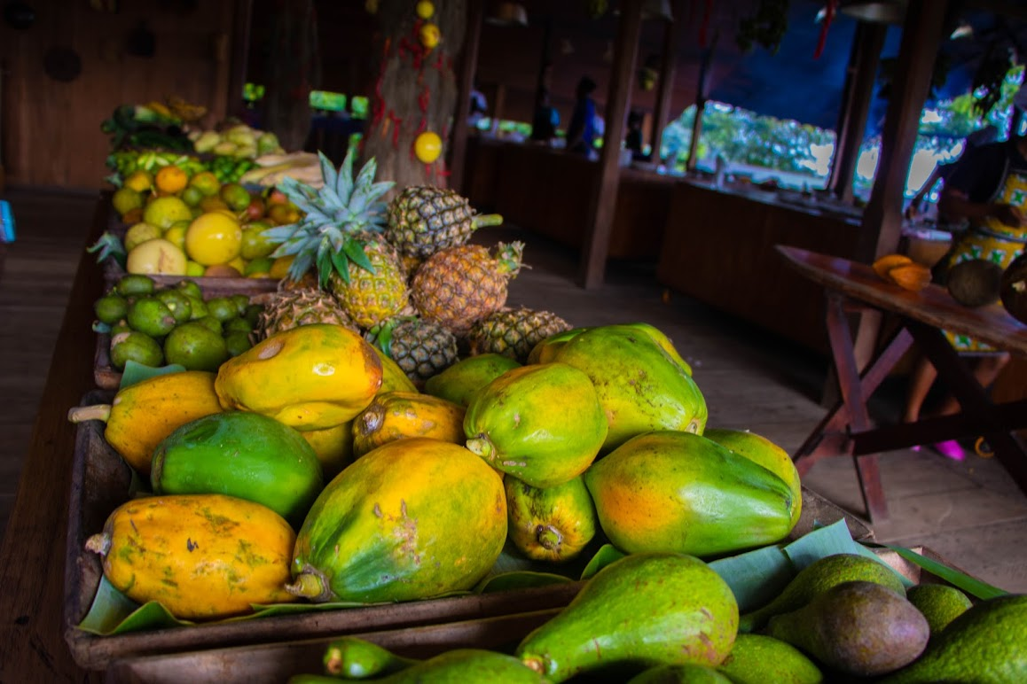 Fresh fruit Sao Tome - destination perfect for vegans