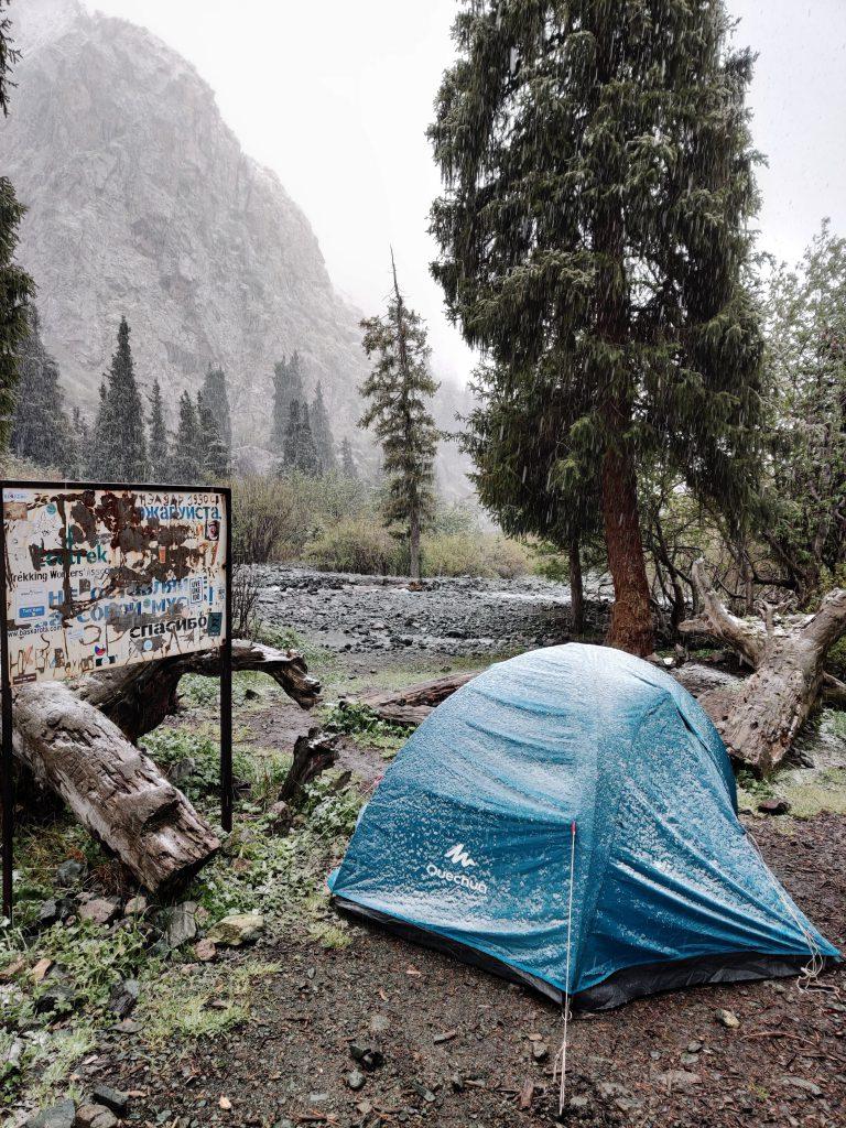 Camping in Kyrgystan