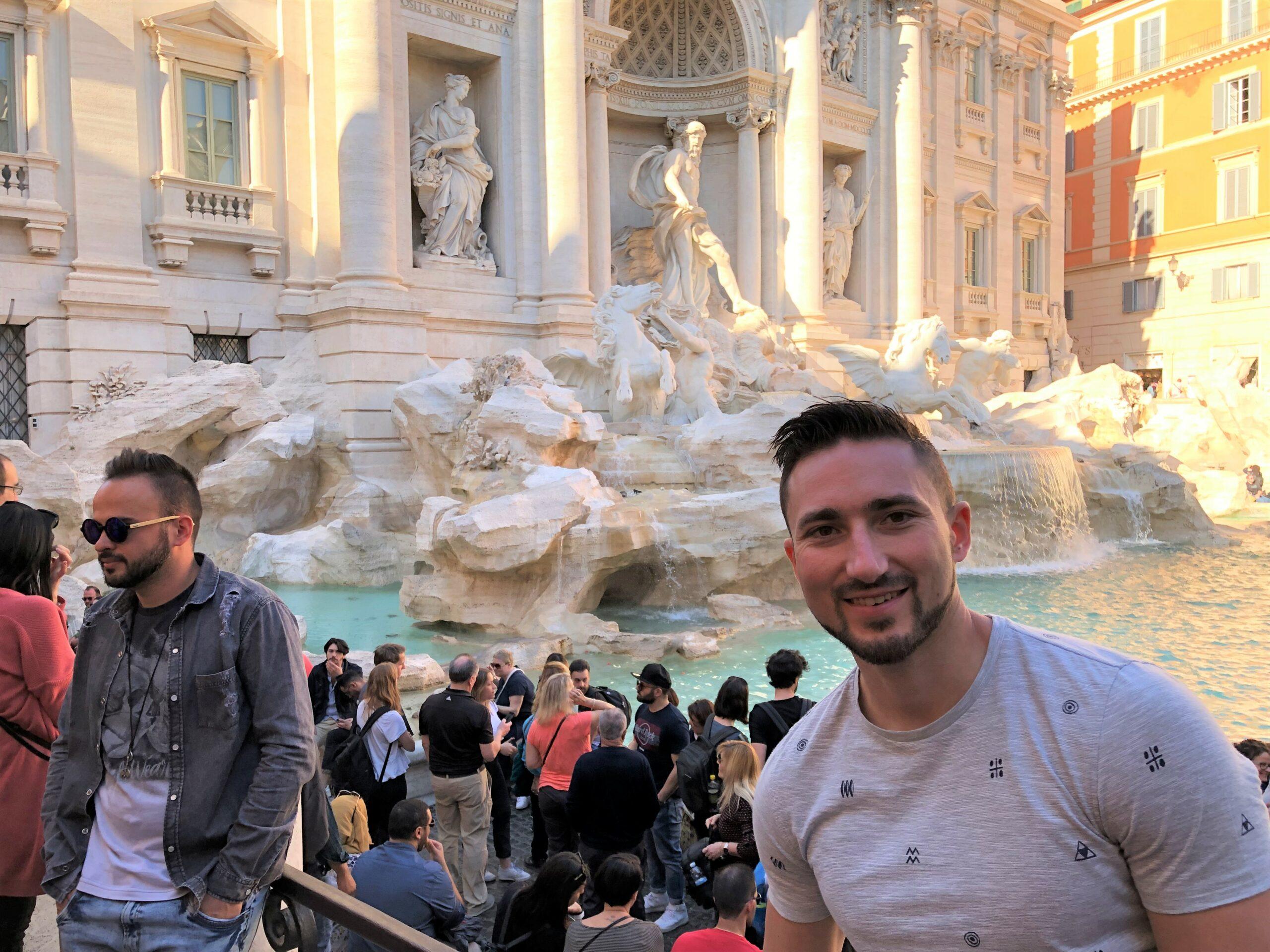 Overtoerisme in Italië - Rome - Trevi fontein