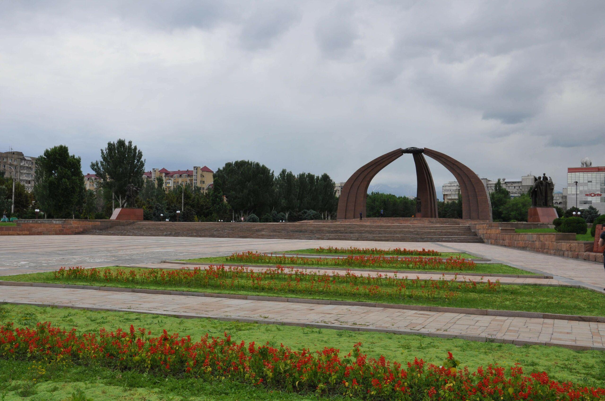 Rondreis Kirgizië / kirgistan - Victory Square - Bishkek
