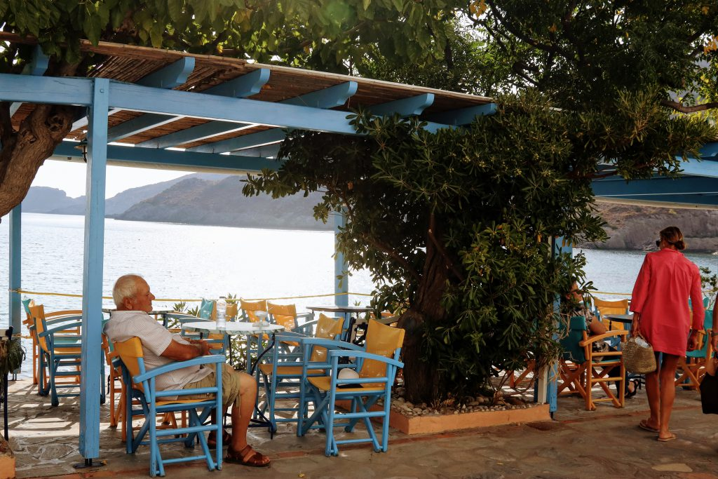 Photo of Kythera Island - Greece - Terrace in the sun by the sea - Travelingin Greece