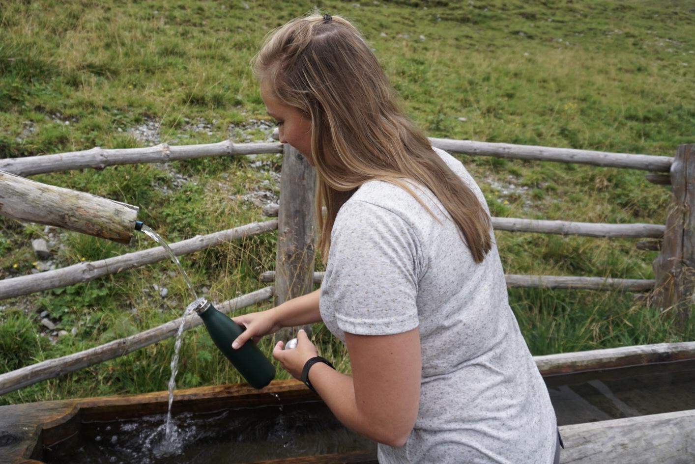 Reusable drinking bottle sustainable tourism travelrebel