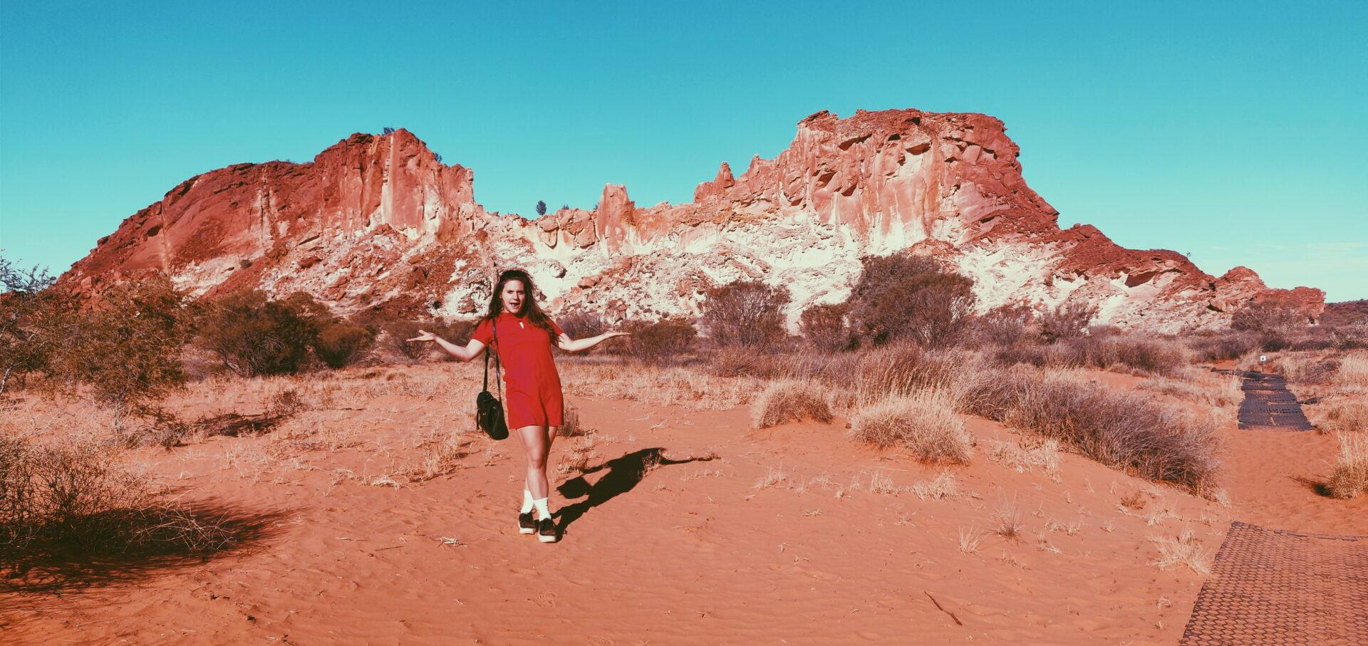 Gast reisblogger Djoelie Ectors in de Australische Outback