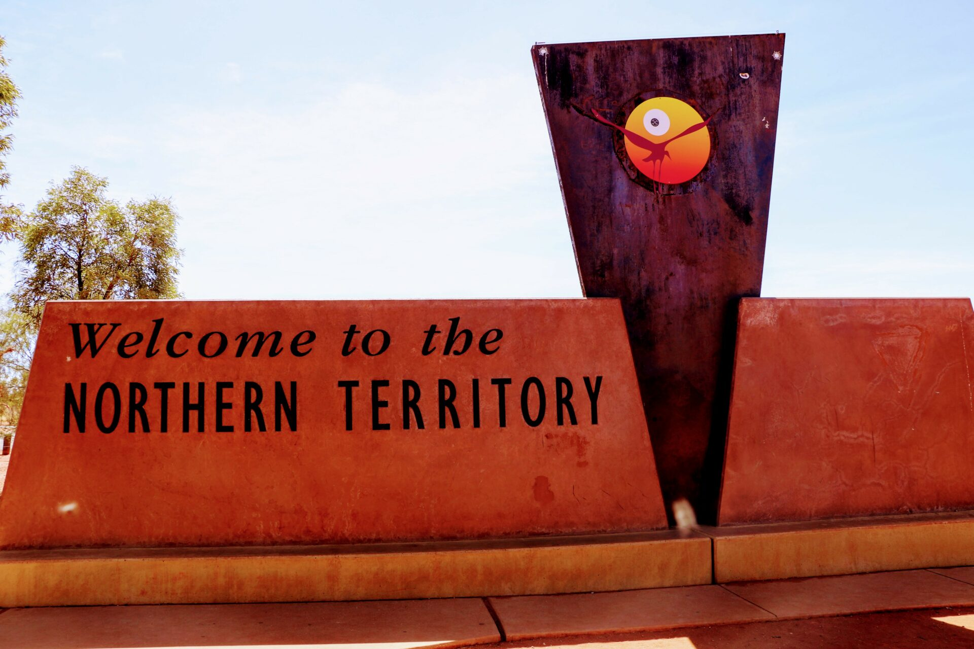 The Northern Territory Outback Australië sign
