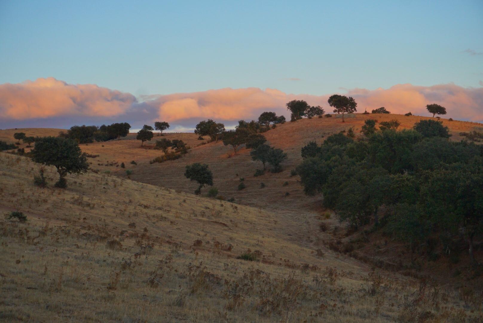 Prachtige zonsopgang in Alentejo, Portugal