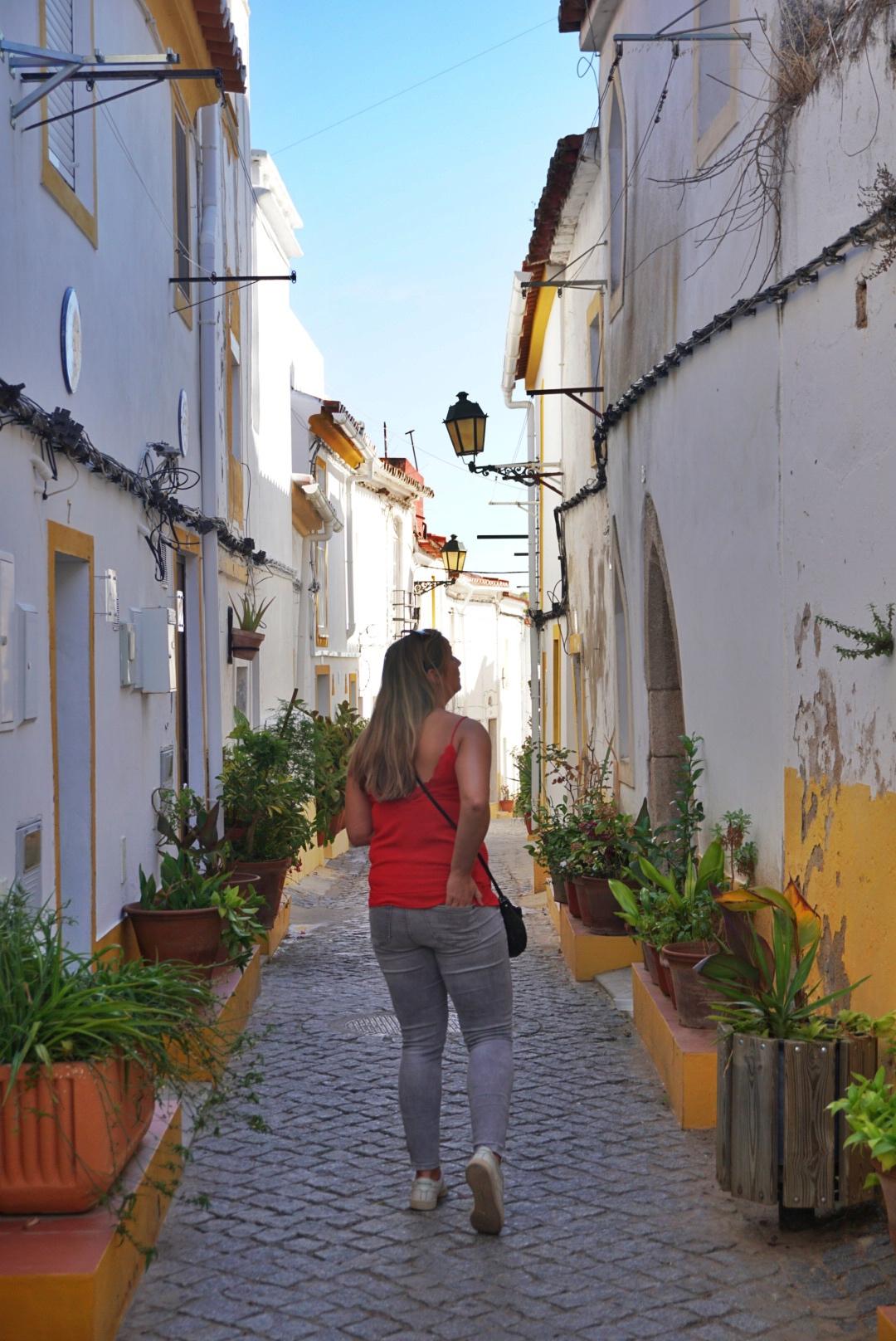 Indian summer in Portugal, Alentejo Region - the streets of Elvas