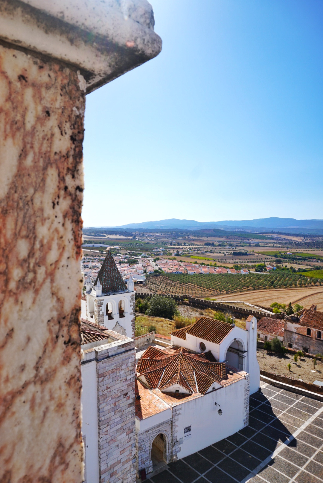 Estremoz - Alentejo - Portugal - View over church and surroundings
