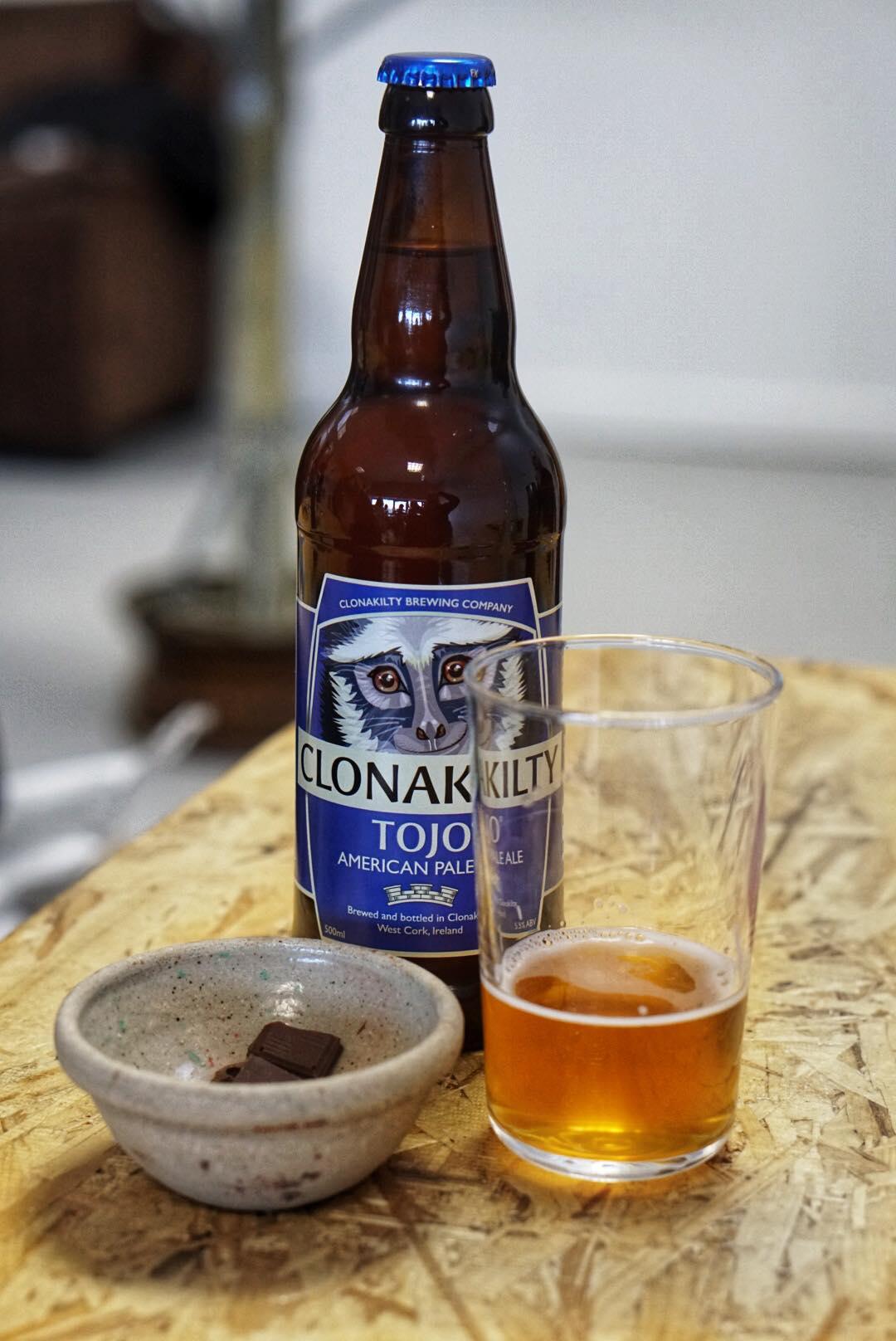 Lokaal bier en chocolade in Clonakilty. Lokaal eten in Ierland