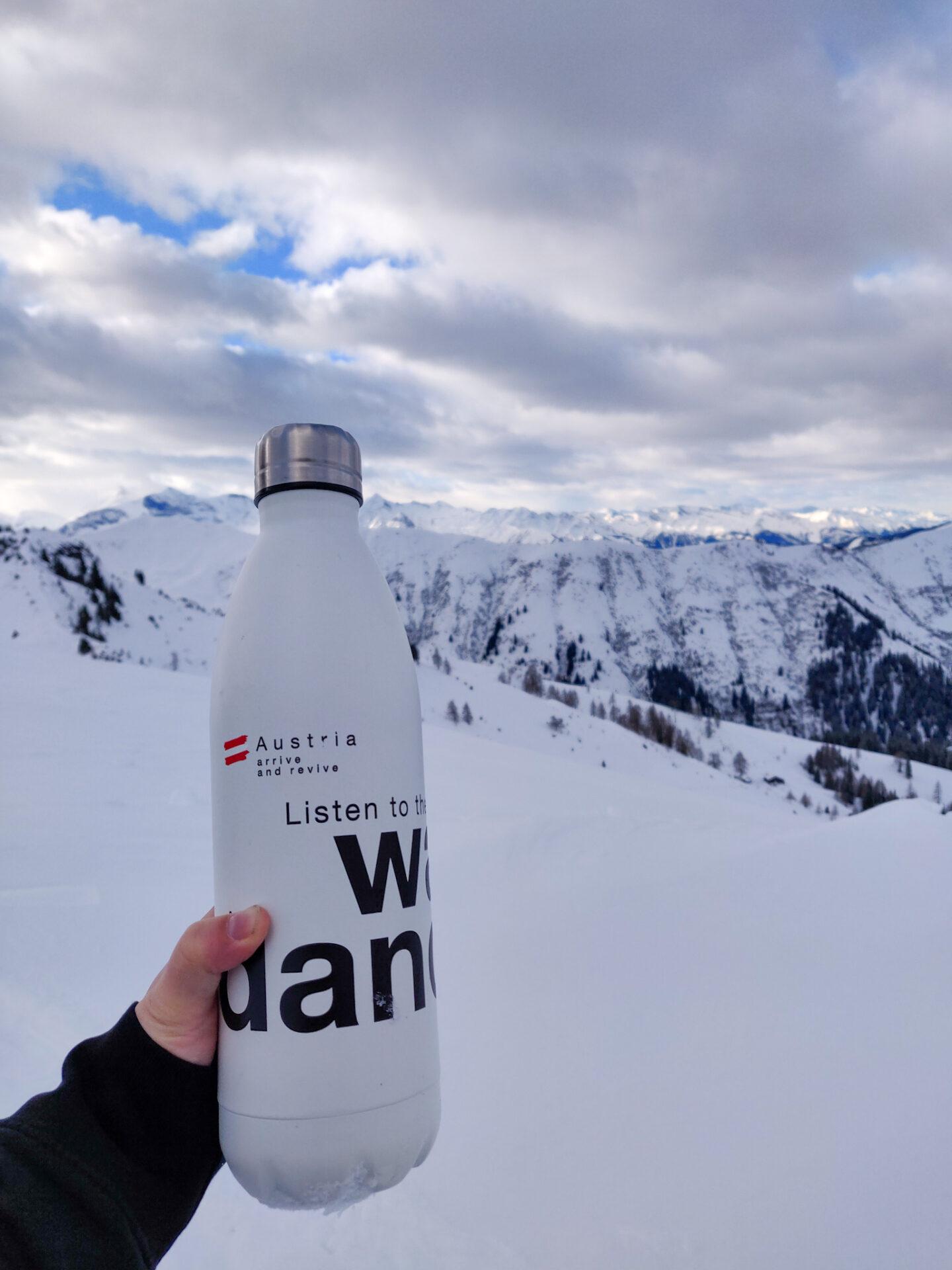 herbruikbare drinkfles in Oostenrijk.