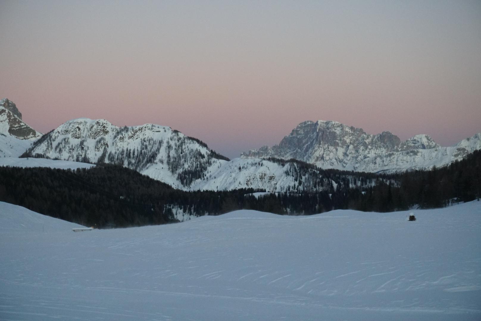Zicht over de dolomieten - Val Di Fassa - Skiën in Italië