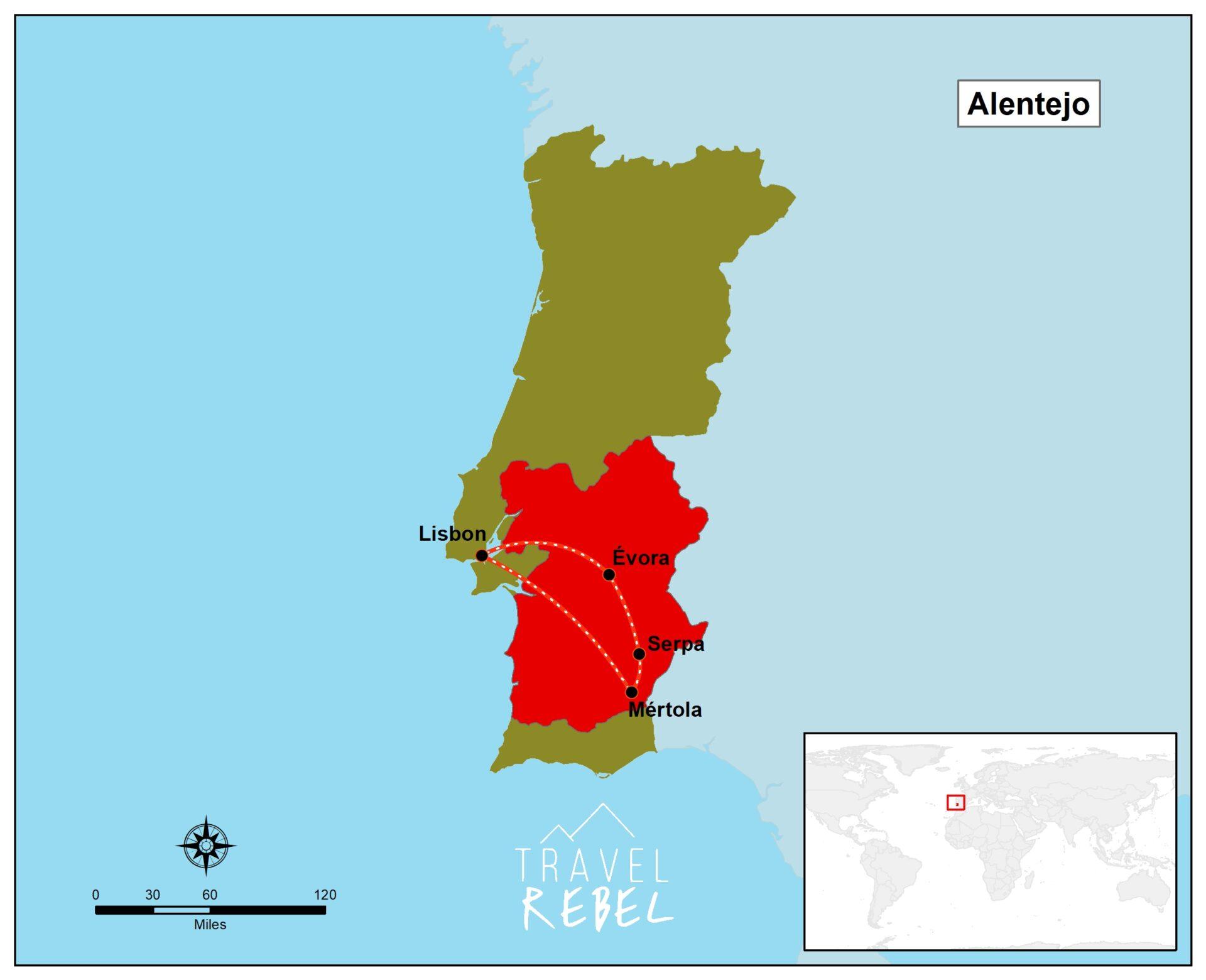 Best Roadtrip guide for Portugal.  Discover unknown Alentejo