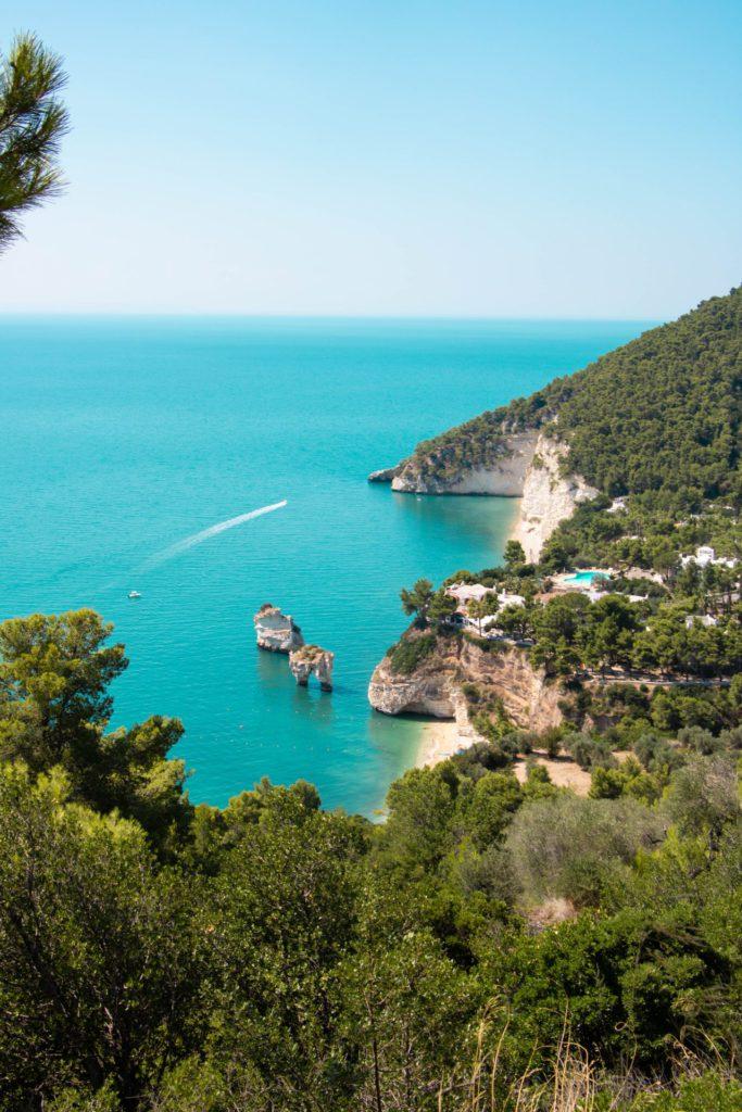 De meeste mooiste stranden in heel Italië zijn dichtbij Vieste