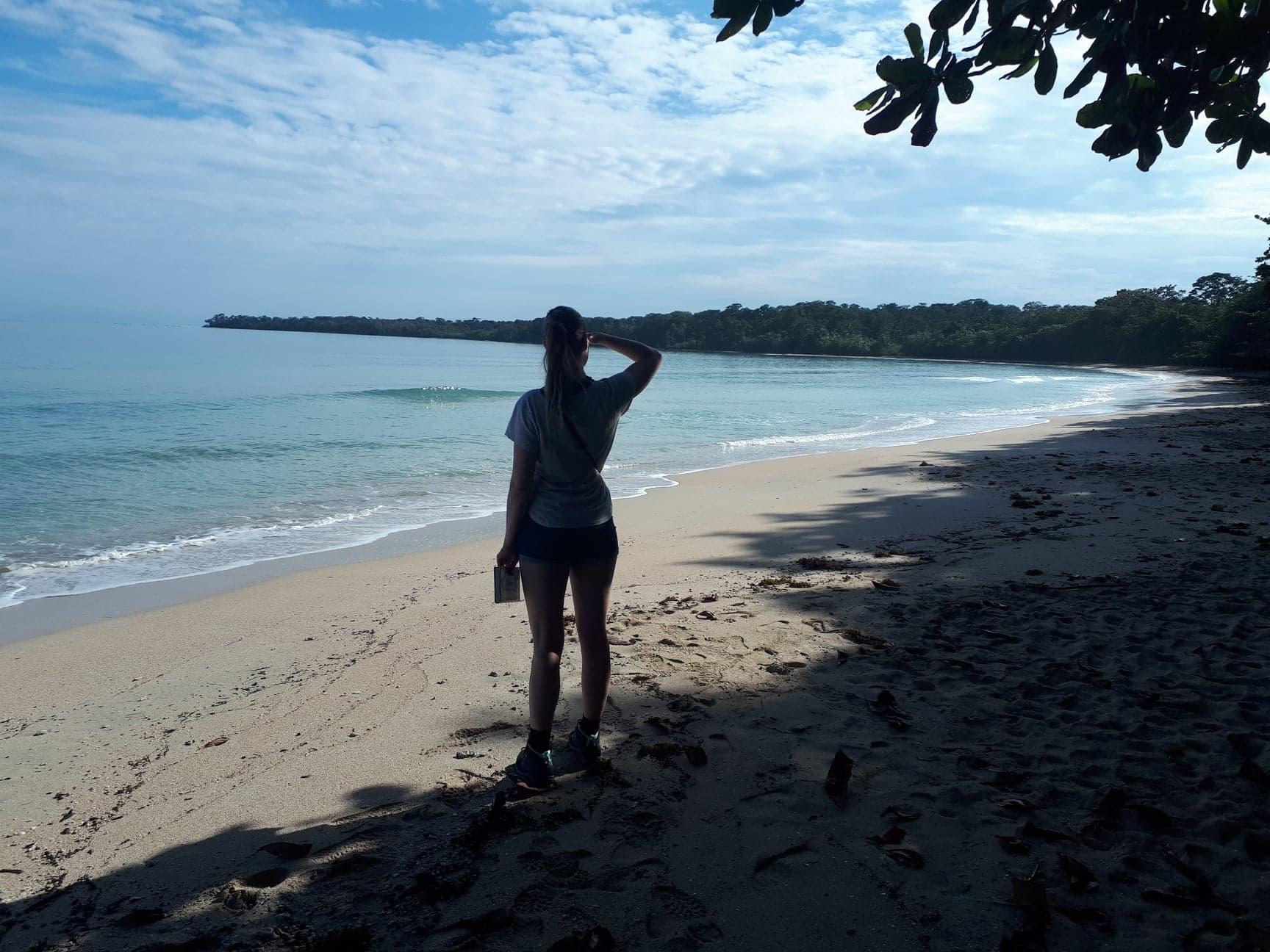 Uitzichtpunt aan de start van de wandeling - Kelly Creek in Costa Rica