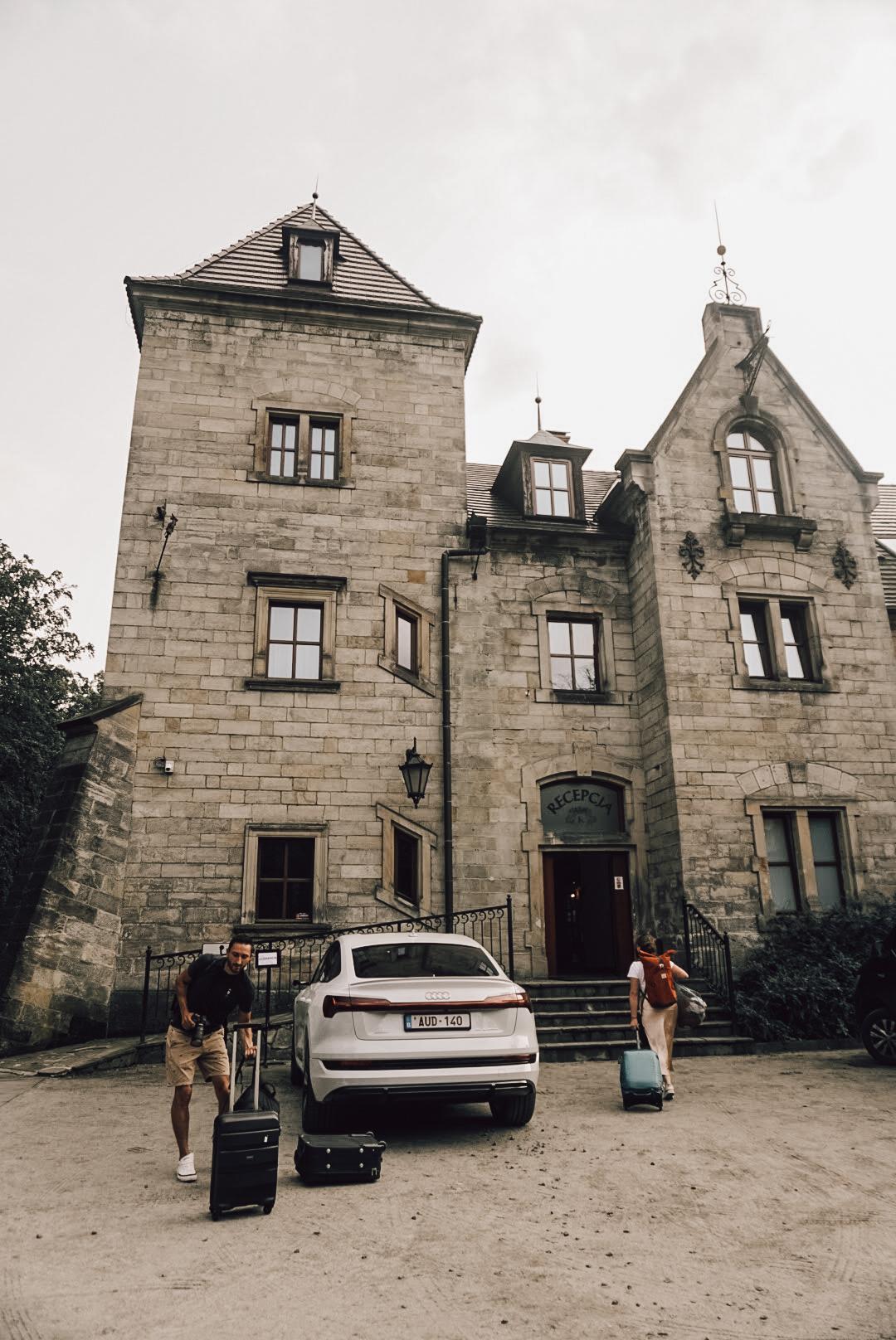 het Kliczków kasteel Polen met de e-tron Sportback