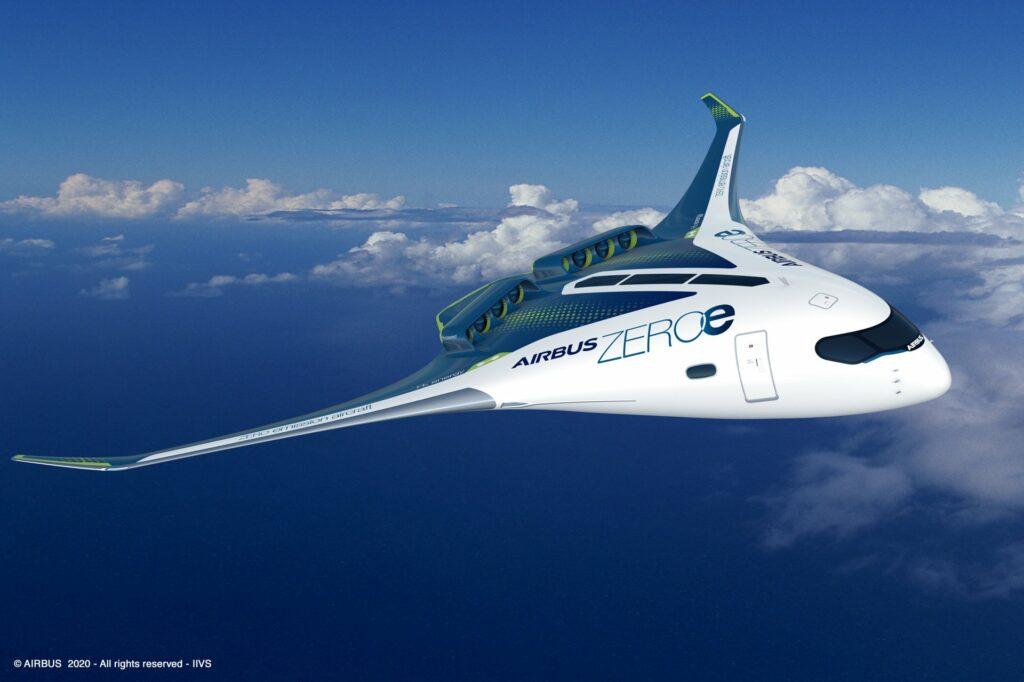 Airbus ZEROe hydrogen powered aeroplane  ©Airbus