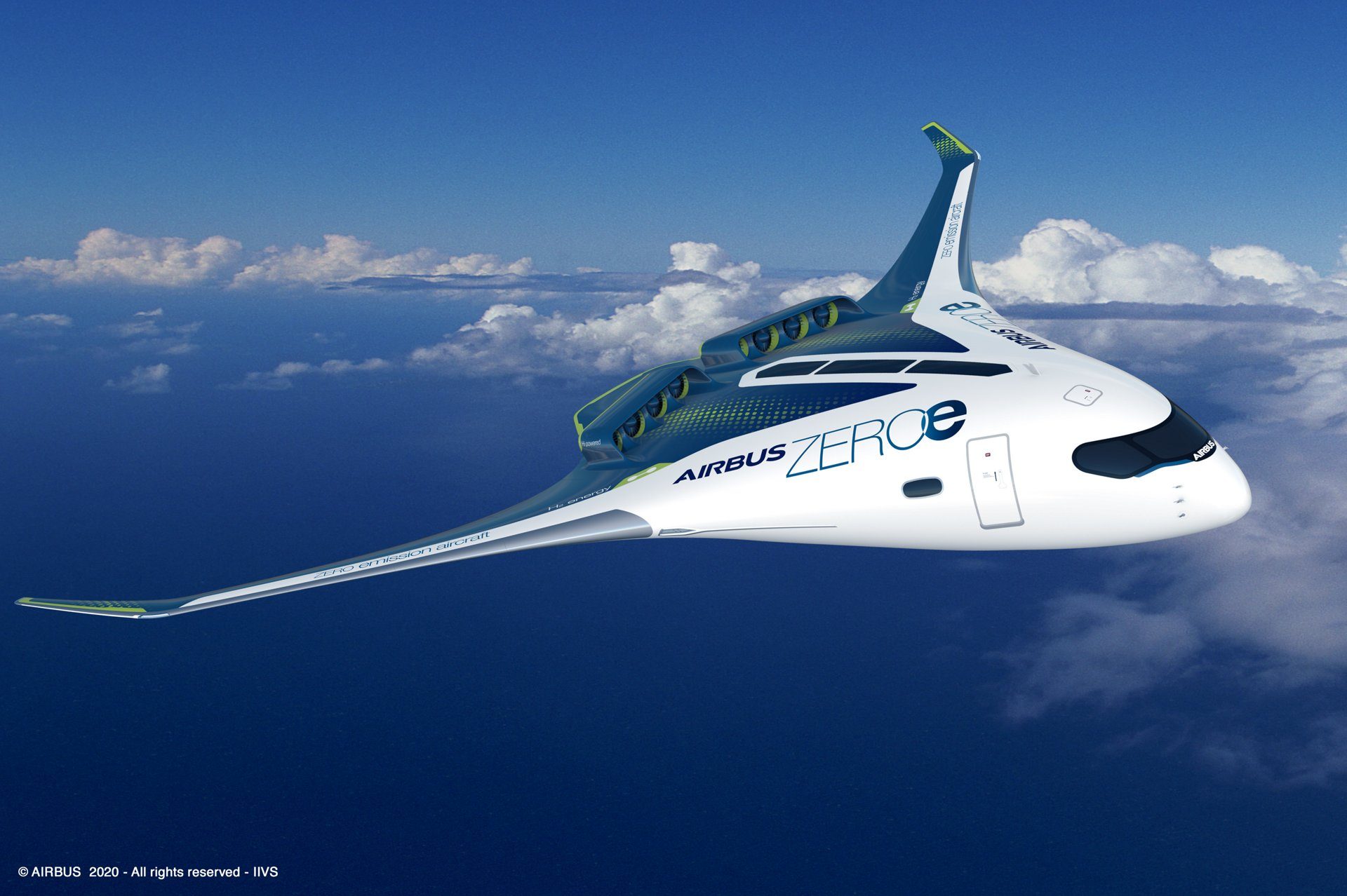 Hydrogen powered aeroplane ©Airbus