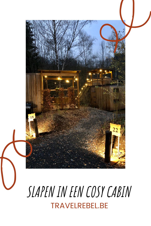 bijzonder overnachten in België - nutchel cabin - tiny house Belgium