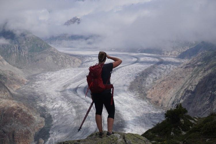 Bergwandeling in Europa, Zwitserland langs de Aletsch gletsjer: van Bettmeralp naar Fiescheralp